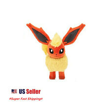 "New Pokemon  Eevee Evolution Flareon plush Toy Orange 8"" Doll US Seller"