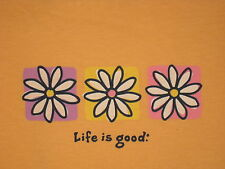LIFE IS GOOD WOMEN'sS S/S  COUNT YOUR BLOSSOMS FLOWERS  T- SHIRT SIZE M
