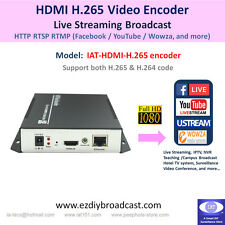 H.265 H.264 HDMI 1080P encoder RTSP HTTP RTMP Facebook YouTube 2 live streams