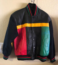 Leather Varsity Bomber Baseball jacket men size S Retro 80s 90s color block coat