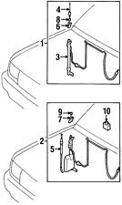 Genuine Toyota Antenna Mast 86337-34030