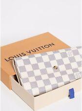 New Auth Louis Vuitton LV Damier Azur Portefeuille Sarah Long Wallet  LV