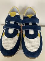 Boys Trainers Size 5 White Leather Blue Suede Accent BNIB RRP £150 By il Gufo