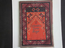 1925 Philadelphia Pa. COLUMBIA YARN RUGS Color Patterns Illustrated Catalog RARE