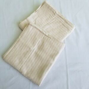 King Size Pillow Cases Set of 2 Beige Cream Ivory Tan Damask Checked Pattern