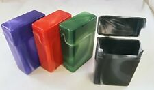 4 Crush-Proof Plastic Flip Top Hinged Lid Cigarette Case Regular - 3202