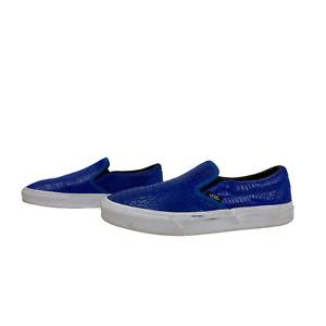 GENUINE Mens Womens Unisex Trainers Size 7.5 EU 41 Blue Leather Sneaker 26.5cm
