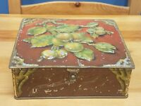 Rare VTG or Antique Huntley & Palmers Biscuits Embossed Tin Cherry Tree Branches