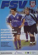 Programm 2000/01 FSV Frankfurt - Eintracht Frankfurt Am.