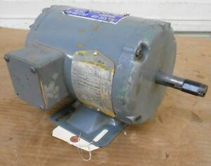 BALDOR INDUSTRIAL MOTOR, M3538, 1/2 (0.5) HP, 208-230/460 VOLTS, 1725 RPM