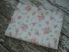 POTTERY BARN KIDS Pastel Floral Flat Sheet Twin Size Shabby Cottage Pink Blue