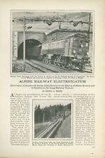 1923 Magazine Article Electrification St. Gothard Railway Switzerland Swiss Alps