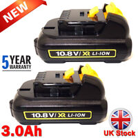 2X 3AH 10.8V Li-ion Battery For Dewalt XR DCB121 DCB123 DCB125 MAX DCB127 DCB120