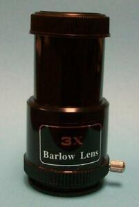 "Celestron 3x Short Economy Barlow For 1.25"" Telescope Eyepieces – NEW"