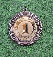 98 große Medaillen bronze mit Band + Emblem #MR14 (Sieger Turnier Medaille)