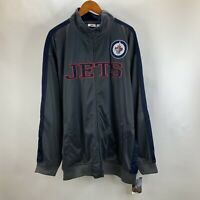 Official NHL Product Winnipeg Jets Grey Full Zip Track Jacket Mens Size 3XT NWT
