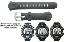 Genuine Timex Black Resin Watch Strap for T5K494, T5K495, T5K496 Timex Watches