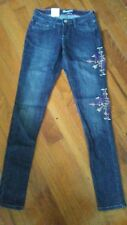 WRANGLER MAE PREMIUM Womens Ladies Skinny Jeans 0 x 33 $66 NEW NWT EMBROIDERY!!!