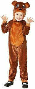 Kids Toddler Bear Costume Animal Jungle Book Week Day Zoo Fancy Dress Outfit