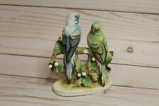 Lefton Figurines Hand-Painted Parakeets Pair #Kw467 - Excellent condition!