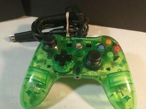Xbox 360 Green Power A Mini Pro EX Wired Controller, CLEANED & TESTED