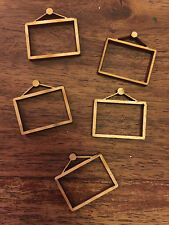 20  x Wooden Mini WOODEN PICTURE FRAME EMBELLISHMENT Craft  Scrapbook Art sd206