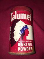 Vintage Calumet Double Acting Baking Powder Empty Tin Tarnished