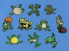 100 Lot Cartoon Frogs Embroidered Iron On Craft Childrens Patches Crests