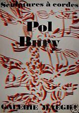 Bury Pol affiche originale litho 1974 Art Abstrait cinétique Paris Musique