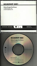 AGAINST ME White People for Peace RARE MIX PROMO DJ cd single Butch Vig GARBAGE