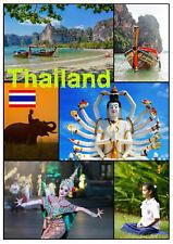 TAILANDIA - RECUERDO ORIGINAL Imán de NEVERA - MONUMENTOS/BANDERA/Regalos/ NUEVO