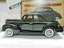 Danbury Mint 1:24 1939 Ford Deluxe Coupe Limited Edition W/ Title