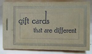 "Vintage Pad Blank Gift Cards That Are Different 3.5 x 2"" 24 Cards"