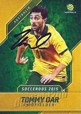 ✺Signed✺ 2015 2016 SOCCEROOS Card TOMMY OAR Australia World Cup A-League