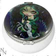 Glass Trinket Box Sat & Perched & Nothing More By Artist Jasmine Becket-Griffith