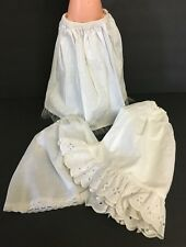 Vintage Lot Of 3 Assorted White Doll Half Slip Skirts Petticoats Elastic Waists