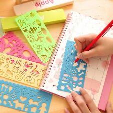 4PCS Spirograph Toy Stencil Children Drawing Ruler Plastic Template