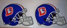 "Set of 2 Vintage 1990s Denver Broncos Sticker 13"" x 10"" Throwback Old Logo Retro"