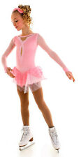 New Pink Figure Skating Competition Dress Elite Xpression 1536 Child 8-10