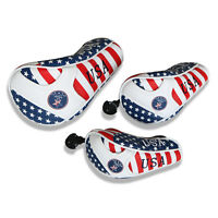 Red Blue White Golf Driver Headcover Hybrid Head Cover Fairway Wood Club Cover