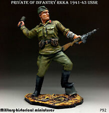 WWII Soldier RKKA USSR, Tin toy soldier 54 mm, figurine, sculpture HAND PAINTED