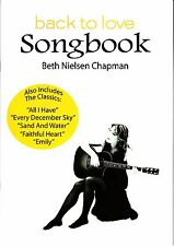 BETH NIELSON CHAPMAN BACK TO LOVE HAND SIGNED SONGBOOK