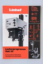 Broschüre Prospekt Katalog LINHOF LIEFERPROGRAMM TEIL 3 1981 ORIGINAL NEU