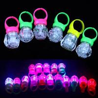 10PCS LED Light Up Flashing Finger Rings Glow Party Favors Kids Children Toys AU