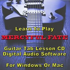 MERCYFUL FATE Guitar Tab Lesson CD Software - 35 Songs
