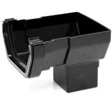Joblot 23 X POLYPIPE 112MM SQUARE Black GUTTER Stop End  OUTLET RS206