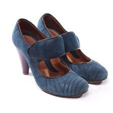 CHIE MIHARA Pumps Gr. D 38,5 Blau Lila Damen Schuhe Shoes Mary Janes Suede