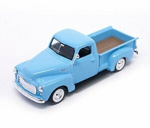 New In Box Road Signature 1/43 Scale Blue 1950 GMC Pick Up Diecast model Car