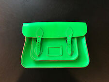 The Cambridge Satchel Company Neon Green Leather 14 Inch Crossbody Handbag