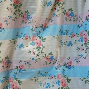 Laura Ashley Single Small Bedspread Throw Country Cottage Floral
